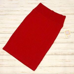 NWT Lularoe XS red Cassie pencil skirt